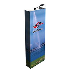 31in OneFabric Straight Fabric Popup Trade Show Display End Caps (Graphic & Hardware) represent one of the newest in pop-up displays. It combines easy setup of pop-up displays with digitally printed fabric graphics. The Photo Fabric graphics displays