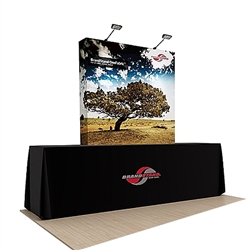 60in x60in OneFabric Straight Fabric Table Top Trade Show Display w/ End Caps (Graphic & Hardware) represent one of the newest innovations in pop-up displays. It combines the easy setup of pop-up displays with digitally printed fabric graphic