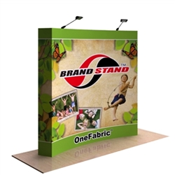 8ft OneFabric Curved Trade Show Display End Caps OneFabric is a cutting-edge, cost-efficient way to provide a stunning focal point for your event or trade show booth area, creates a visually attractive exhibit presentation at your next trade show or event