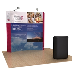 8ft OneFabric Curved Popup Display Kit & Case with Black Fabric Wrap