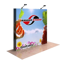 8ft OneFabric Straight Popup Display w/ End Caps Replacement Fabric w/ End Caps (Graphic Only)