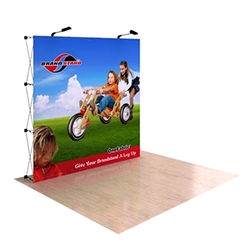 8ft OneFabric Straight Popup Display without End Caps (Graphic & Hardware)  represent one of the newest innovations in pop-up displays. It combines the easy setup of pop-up displays with the latest technology in digitally printed fabric graphics.