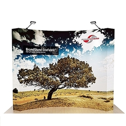 10ft OneFabric Curved Tension Fabric Popup Display