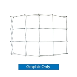 10ft OneFabric Curved Tension Fabric Popup Display (Hardware Only)