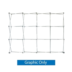 10ft OneFabric Straight Tension Fabric Popup Display (Hardware Only)