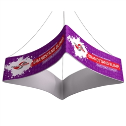 10ft x 42in Blimp Curved Quad Hanging Single-Sided Fabric Banner