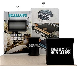 10ft Scallop A Waveline Media Backwall & Case w/ Black Wrap (Double-Sided Kit)