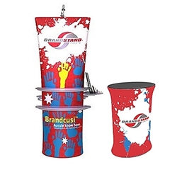 34in x 78in Brandcusi Straight 3D Fabric Banner Stand Display Kit