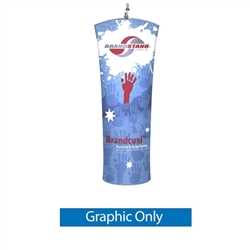 Brandcusi CurvedBanner Stand Graphic Print Only. Brandcusi Curved Fabric Double-Sided Banner Stand are perfect for displaying at any event. They are lightweight and roll up into a small carrying case. Brandcusi Curved Fabric Double-Sided Banner Stand