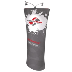 Brandcusi Mini Straight 3d Fabric Banner Stand Display are perfect for displaying at any event. They are lightweight and roll up into a small carrying case. Brandcusi Straight Fabric Double-Sided Banner Stand has attention grabbing Dye-Sub printed graphic