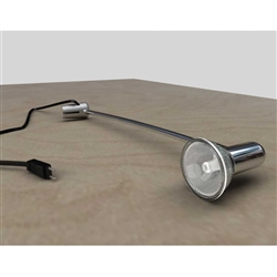 Spotlights come with various connectors, making them versatile and easy to use with practically any banner stand or panel system. All lights meet current UL safety regulations and are available in either a stylish Silk Black or Deluxe Chrome finish