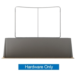 8ft Waveline Curved Table Top Display Hardware Only. Waveline Table Topis easy to set up and affordable for a large table top graphic. Waveline 8 ft table top display is a great solution for exhibitors looking for an affordable graphic backdrop
