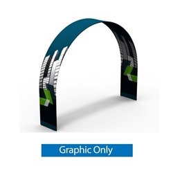 10ft x 10ft x 2ft Rounded Double-Sided Arch Display (Graphic Only) give you the ability to turn your show space into a captivating exhibit! Easily create and define a stunning entryway, focal point or stage set at your next tradeshow or event