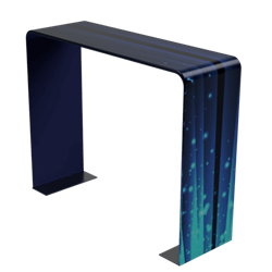 10ft x 8ft x 2ft Square Double-Sided Arch Display (Graphic & Hardware) give you the ability to turn your show space into a captivating exhibit! Easily create and define a stunning entryway, focal point or stage set at your next tradeshow or event