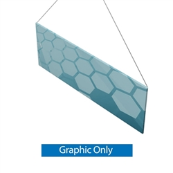 8ft x 3ft Double-Sided Flat Hanging Sign (Graphic Only) is a must have at your next trade show. This ceiling banner is printed on quality fabric. Available shapes hanging sign are round, flat, square, curved square, tapered square and triangle