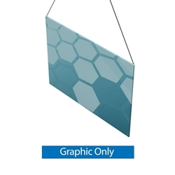 8ft x 6ft Double-Sided Flat Hanging Sign (Graphic Only) is a must have at your next trade show. This ceiling banner is printed on quality fabric. Available shapes hanging sign are round, flat, square, curved square, tapered square and triangle