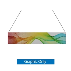 10ft x 2ft Double-Sided Flat Hanging Sign (Graphic Only) is a must have at your next trade show. This ceiling banner is printed on quality fabric. Available shapes hanging sign are round, flat, square, curved square, tapered square and triangle