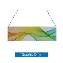10ft x 3ft Double-Sided Flat Hanging Sign (Graphic Only) is a must have at your next trade show. This ceiling banner is printed on quality fabric. Available shapes hanging sign are round, flat, square, curved square, tapered square and triangle