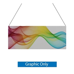 10ft x 4ft Double-Sided Flat Hanging Sign (Graphic Only) is a must have at your next trade show. This ceiling banner is printed on quality fabric. Available shapes hanging sign are round, flat, square, curved square, tapered square and triangle