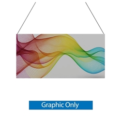 10ft x 5ft Double-Sided Flat Hanging Sign (Graphic Only) is a must have at your next trade show. This ceiling banner is printed on quality fabric. Available shapes hanging sign are round, flat, square, curved square, tapered square and triangle
