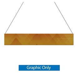 12ft x 2ft Double-Sided Flat Hanging Sign (Graphic Only) is a must have at your next trade show. This ceiling banner is printed on quality fabric. Available shapes hanging sign are round, flat, square, curved square, tapered square and triangle