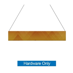 12ft x 2ft  Flat Hanging Sign (Hardware Only) is a must have at your next trade show. This ceiling banner is printed on quality fabric. Available shapes hanging sign are round, flat, square, curved square, tapered square and triangle