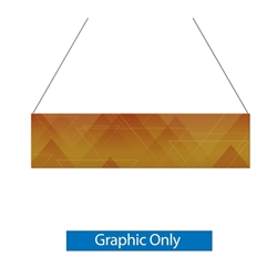 12ft x 3ft Double-Sided Flat Hanging Sign (Graphic Only) is a must have at your next trade show. This ceiling banner is printed on quality fabric. Available shapes hanging sign are round, flat, square, curved square, tapered square and triangle