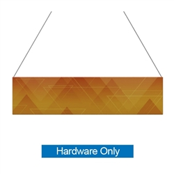 12ft x 3ft  Flat Hanging Sign (Hardware Only) is a must have at your next trade show. This ceiling banner is printed on quality fabric. Available shapes hanging sign are round, flat, square, curved square, tapered square and triangle