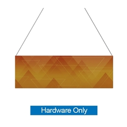 12ft x 4ft  Flat Hanging Sign (Hardware Only) is a must have at your next trade show. This ceiling banner is printed on quality fabric. Available shapes hanging sign are round, flat, square, curved square, tapered square and triangle