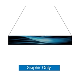 14ft x 2ft Double-Sided Flat Hanging Sign (Graphic Only) is a must have at your next trade show. This ceiling banner is printed on quality fabric. Available shapes hanging sign are round, flat, square, curved square, tapered square and triangle