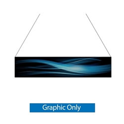 14ft x 3ft Double-Sided Flat Hanging Sign (Graphic Only) is a must have at your next trade show. This ceiling banner is printed on quality fabric. Available shapes hanging sign are round, flat, square, curved square, tapered square and triangle