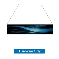 14ft x 3ft  Flat Hanging Sign (Hardware Only) is a must have at your next trade show. This ceiling banner is printed on quality fabric. Available shapes hanging sign are round, flat, square, curved square, tapered square and triangle