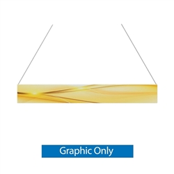 15ft x 2ft Double-Sided Flat Hanging Sign (Graphic Only) is a must have at your next trade show. This ceiling banner is printed on quality fabric. Available shapes hanging sign are round, flat, square, curved square, tapered square and triangle