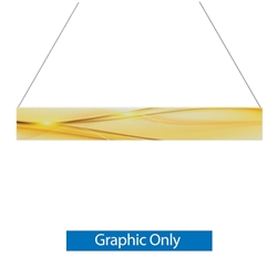 18ft x 2ft Double-Sided Flat Hanging Sign (Graphic Only) is a must have at your next trade show. This ceiling banner is printed on quality fabric. Available shapes hanging sign are round, flat, square, curved square, tapered square and triangle