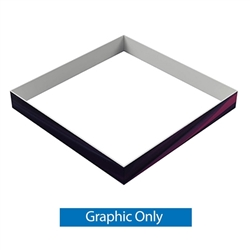 15ft x 2ft Single-Sided Square Hanging Sign (Graphic Only) is a must have at your next trade show. This ceiling banner is printed on quality fabric. Available shapes hanging sign are round, flat, square, curved square, tapered square and triangle