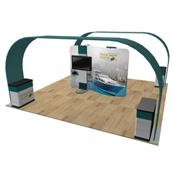 20ft x 20ft Barbados Arch Trade Show Exhibit Display (Graphic & Hardware)