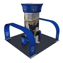 20ft x 20ft Bermuda Arch Trade Show Exhibit Display (Graphic & Hardware)