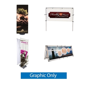 Outdoor Ground Advertising Banner Frame ONLY HARDWARE EZ Post Banner Stand