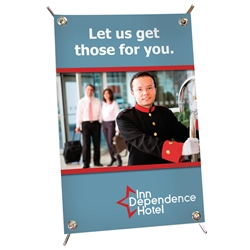 11in x 17in Mini X Table Top Banner Stand Display Kit with Banner. Full-color graphics and portability make these versatile banners the perfect choice for checkout counters, tradeshows, retail shelving, or reception areas.