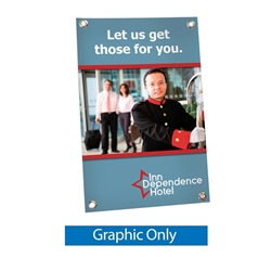 Replacement Graphic for Mini X TableTop Banner Stand Display fit anywhere and are perfect for counter tops.Full-color graphics and portability make these versatile banners the perfect choice for checkout counters, tradeshows, retail shelving, or reception
