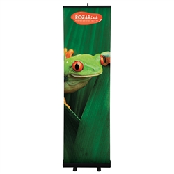 24in Economy Retractor Banner Stand Black Kit the most economical retractor on the market. Perfect for tradeshows, meetings, lobbies, and retail point of sale.Economy Retractor Banner Stands available in 6 sizes for all your mobile marketing needs.