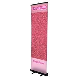 24in Economy Retractor Banner Stand Black Opaque Fabric Kit the most economical retractor on the market. Perfect for tradeshows, meetings, lobbies, and retail point of sale.Economy Retractor Banner Stands available in 6 sizes for all your mobile marketing
