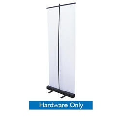 31.5in Economy Retractor Banner Stand Hardware Only, Black  wide the most economical retractor on the market. Its lighter duty mechanism makes it appropriate for temporary displays or for advertising seasonal specials.