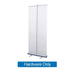 33.5in Economy Retractor Banner Stand Hardware Only Black the most economical retractor on the market. Its lighter duty mechanism makes it appropriate for temporary displays or for advertising seasonal specials.