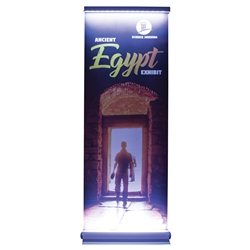 3ft x 8ft Lumos Titan No-Curl Opaque Fabric Kit. This retractable banner is illuminated from both the top and bottom. What a bright idea!