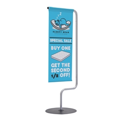 1ft x 3ft Monopode Tabletop Banner Display Kit. This smaller version of our popular Monopode display is perfect for use on tabletops and countertops.