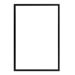 17in x 22in Snap Black Frames for Posters with Easy-Change, Front-Loading Designs also known as poster grips are the most convenient methodology to readily change posters. These poster frames, also known as large picture frames