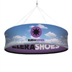 6ft x 20in EuroFit Pro Hanging Banner Hardware Only. This hanging banner offers convenient overhead message space in dimensions ideal for retail and office environments. The graphic is printed on both the inside and the outside of the banner.