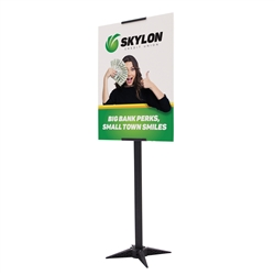 2ft x 5ft Base-X Single-Sided Sign Kit. This signpost's space-saving base folds out to an X shape for a sleek look that draws attention to the signboard.