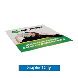 2ft x 5ft Base-X Single-Sided Sign Graphic Only. This signpost's space-saving base folds out to an X shape for a sleek look that draws attention to the signboard.